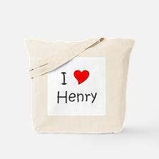 Cute I heart henry Tote Bag
