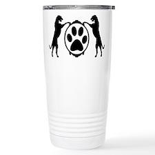 Tall Wolfhounds & Pawprint Travel Mug
