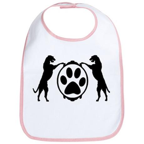 Tall Wolfhounds & Pawprint Bib