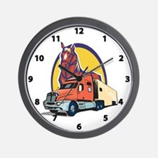 Truck and Horse Wall Clock