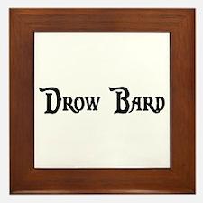 Drow Bard Framed Tile