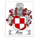 Maino Family Crest Small Poster