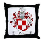Maino Family Crest Throw Pillow