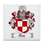 Maino Family Crest Tile Coaster