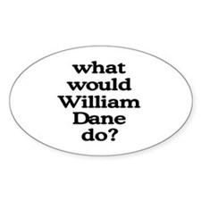 William Dane Oval Decal