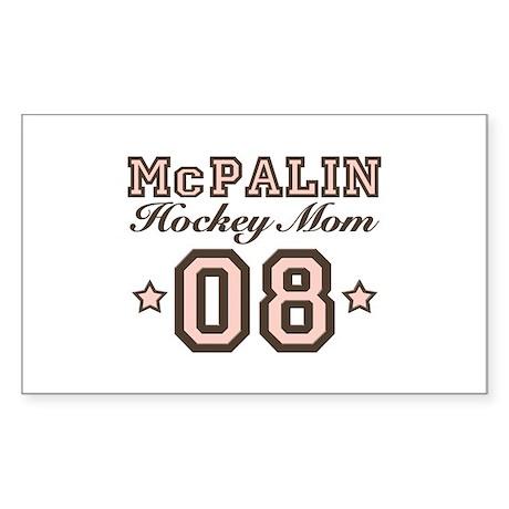 McPalin Hockey Mom Rectangle Sticker