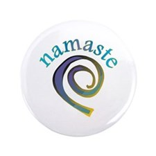 """Namaste, Sanskrit Greeting of Honor 3.5"""" Button (1"""