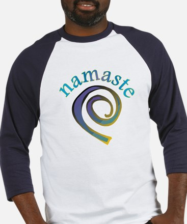 Namaste, Sanskrit Greeting of Honor Baseball Jerse