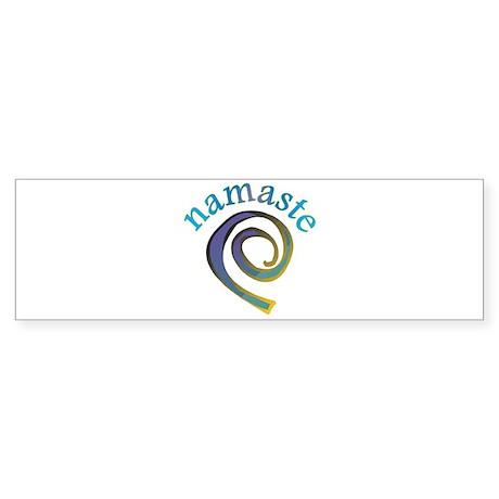 Namaste, Sanskrit Greeting of Honor Sticker (Bumpe