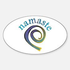 Namaste, Sanskrit Greeting of Honor Sticker (Oval)