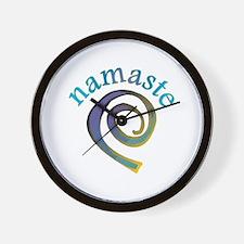 Namaste, Sanskrit Greeting of Honor Wall Clock