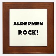 Aldermen ROCK Framed Tile