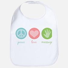 Peace, Love & Massage Bib