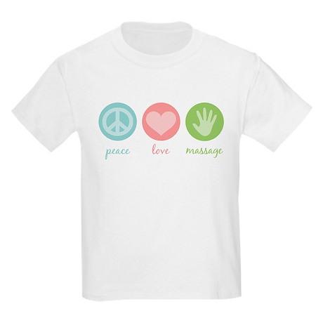 Peace, Love & Massage Kids Light T-Shirt