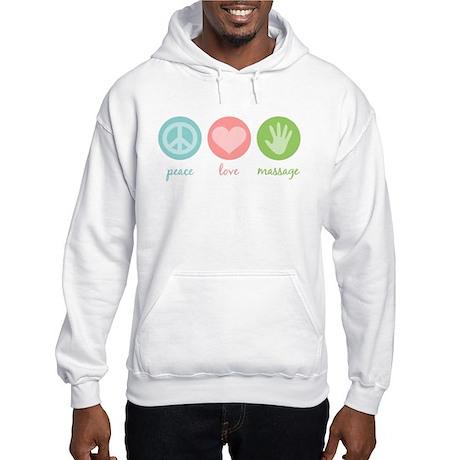 Peace, Love & Massage Hooded Sweatshirt