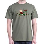Scootin Santa Dark T-Shirt