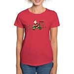 Scootin Santa Women's Dark T-Shirt