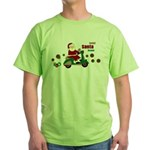 Scootin Santa Green T-Shirt