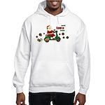 Scootin Santa Hooded Sweatshirt
