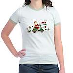 Scootin Santa Jr. Ringer T-Shirt