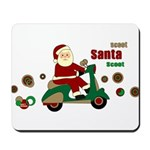 Scootin Santa Mousepad