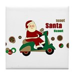 Scootin Santa Tile Coaster