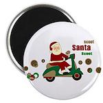 Scootin Santa Magnet