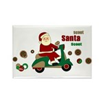 Scootin Santa Rectangle Magnet (10 pack)