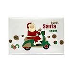 Scootin Santa Rectangle Magnet