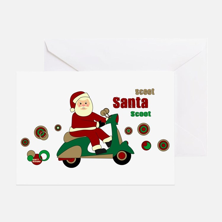 Scootin Santa Greeting Card