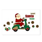 Scootin Santa Postcards (Package of 8)