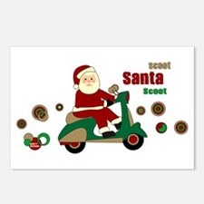 Scootin Santa Postcards (Package of 8)