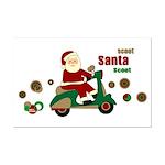 Scootin Santa Mini Poster Print