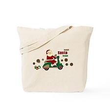 Scootin Santa Tote Bag