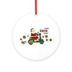 Scootin Santa Ornament (Round)