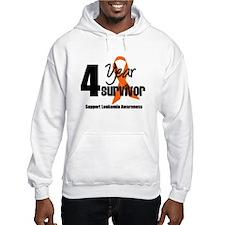 4Year-LeukemiaSurvivor Hoodie Sweatshirt