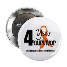 """4Year-LeukemiaSurvivor 2.25"""" Button"""