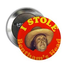 "Bentham's Head (Red) 2.25"" Button"