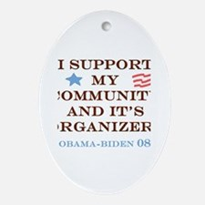 Cute Community organizer Oval Ornament