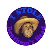 "Bentham's Head (Purple) 3.5"" Button"