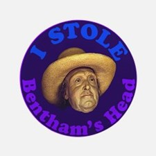 "Bentham's Head (Purple) 3.5"" Button"