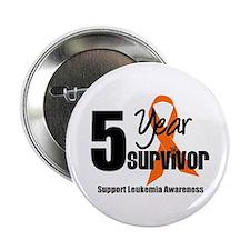 """5Year-LeukemiaSurvivor 2.25"""" Button"""
