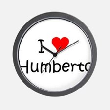 Cute I love humberto Wall Clock