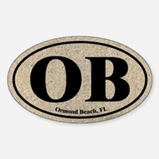 Ormond Beach OB Euro Oval Oval Decal