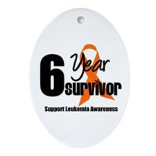 6Year-LeukemiaSurvivor Oval Ornament