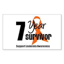 7Year-LeukemiaSurvivor Rectangle Sticker 10 pk)