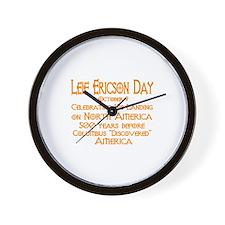 Leif Ericson Day Wall Clock