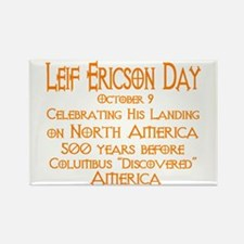 Leif Ericson Day Rectangle Magnet