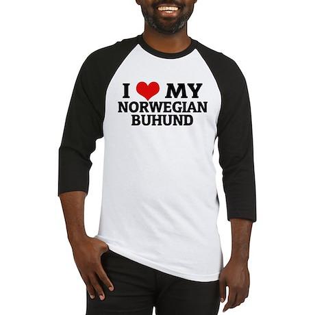 I Love My Norwegian Buhund Baseball Jersey