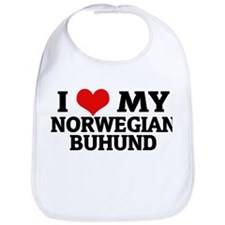 I Love My Norwegian Buhund Bib